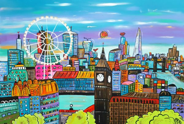 Big New Futuristic View of London